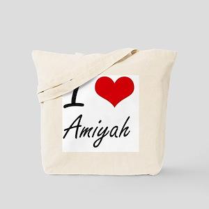 I Love Amiyah artistic design Tote Bag