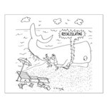 Whale Cartoon 9283 Small Poster