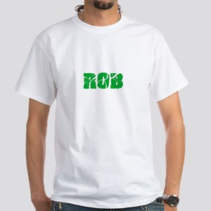 Rob Name Weathered Green Design T-Shirt