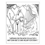 Harp Cartoon 6525 Small Poster