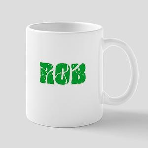 Rob Name Weathered Green Design Mugs
