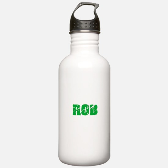 Rob Name Weathered Gre Sports Water Bottle