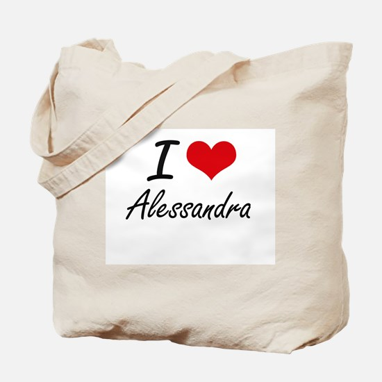 I Love Alessandra artistic design Tote Bag