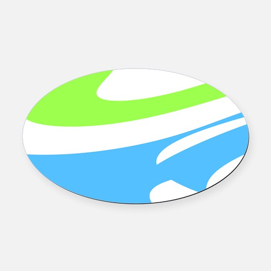Blue Green Chic Earl's Fave Oval Car Magnet