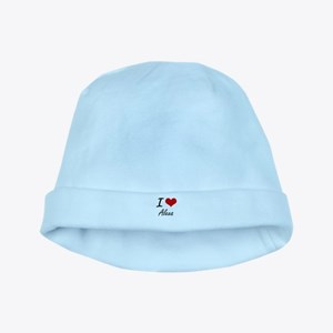 I Love Alexa artistic design baby hat