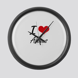 I Love Alexus artistic design Large Wall Clock