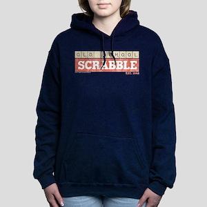 Vintage Old School Scrab Women's Hooded Sweatshirt