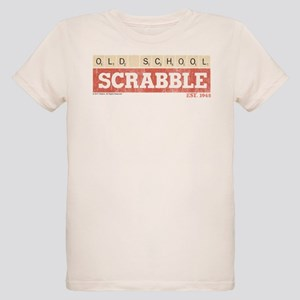 Vintage Old School Scrabble Organic Kids T-Shirt