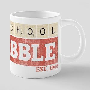 Vintage Old School Scrabble 20 oz Ceramic Mega Mug