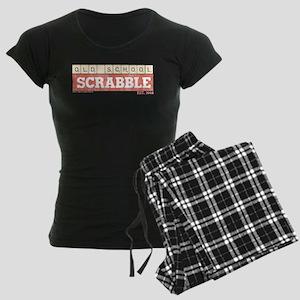 Vintage Old School Scrabble Women's Dark Pajamas