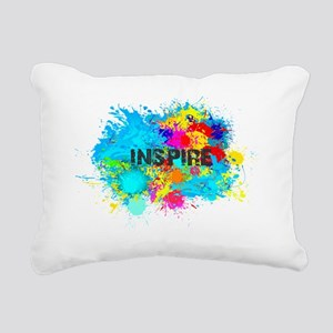 INSPIRE SPLASH Rectangular Canvas Pillow