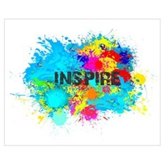 INSPIRE SPLASH Framed Print