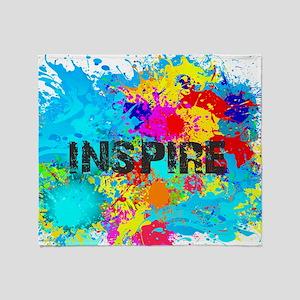 INSPIRE SPLASH Throw Blanket