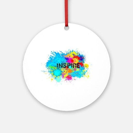 INSPIRE SPLASH Round Ornament