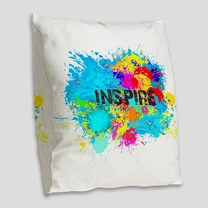 INSPIRE SPLASH Burlap Throw Pillow