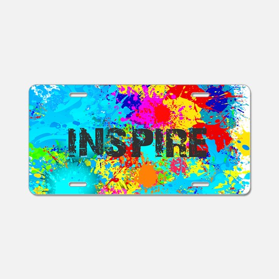 INSPIRE SPLASH Aluminum License Plate