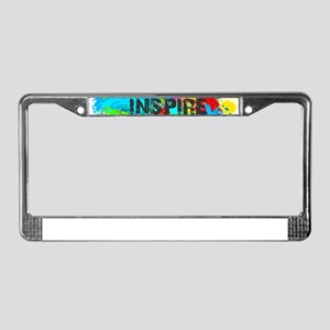 INSPIRE SPLASH License Plate Frame