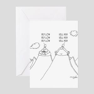 Stock Market Cartoon 2957 Greeting Card