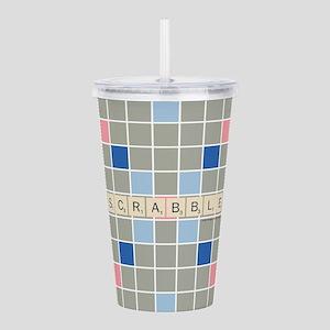 Scrabble Tiles Acrylic Double-wall Tumbler