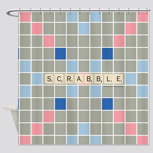 Scrabble Tiles Shower Curtain