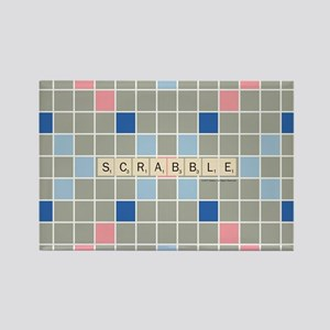 Scrabble Tiles Rectangle Magnet