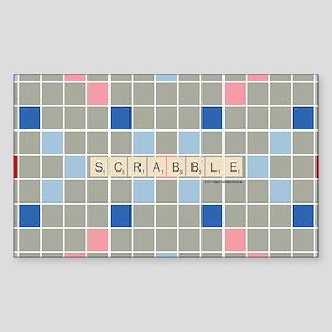 Scrabble Tiles Sticker (Rectangle)
