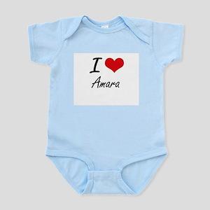 I Love Amara artistic design Body Suit