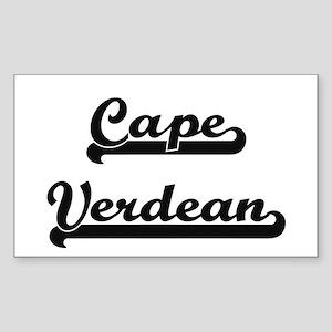Cape Verdean Classic Retro Design Sticker