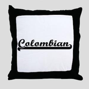 Colombian Classic Retro Design Throw Pillow