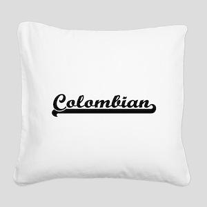 Colombian Classic Retro Desig Square Canvas Pillow