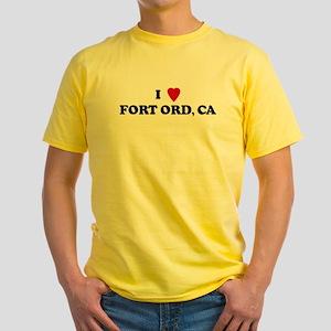 I Love FORT ORD Ash Grey T-Shirt