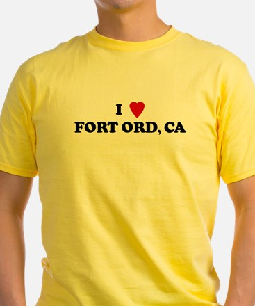 I Love FORT ORD Ash Grey T-Shirt