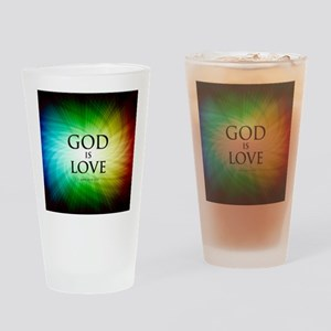Love Is God Drinking Glass