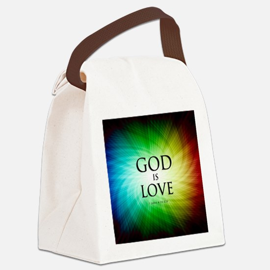 Love Is God Canvas Lunch Bag