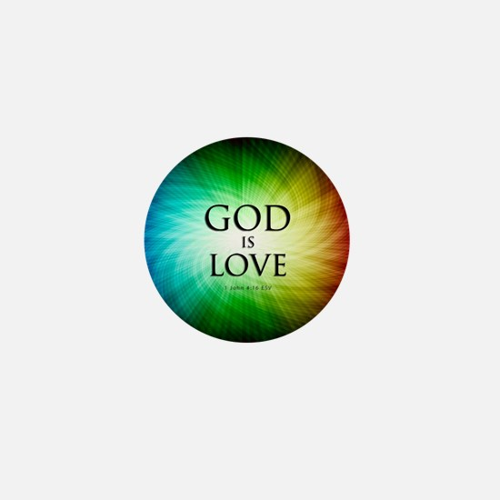 Love Is God Mini Button