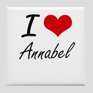 I Love Annabel artistic design Tile Coaster