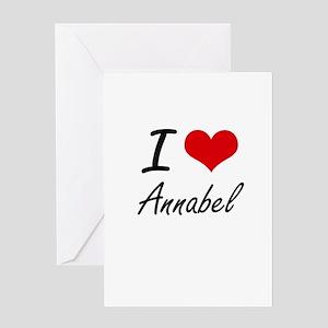 I Love Annabel artistic design Greeting Cards