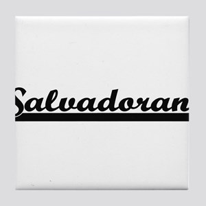 Salvadoran Classic Retro Design Tile Coaster