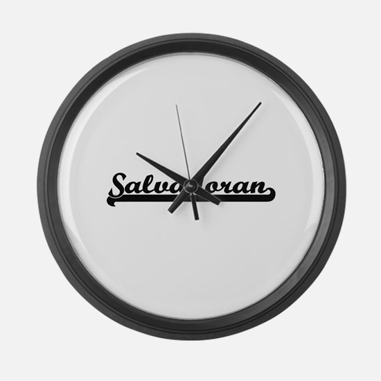 Salvadoran Classic Retro Design Large Wall Clock