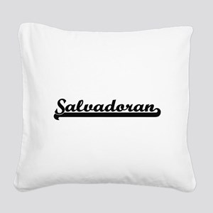 Salvadoran Classic Retro Desi Square Canvas Pillow