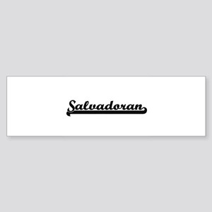 Salvadoran Classic Retro Design Bumper Sticker