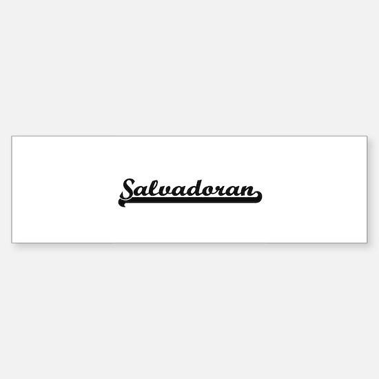 Salvadoran Classic Retro Design Bumper Bumper Bumper Sticker