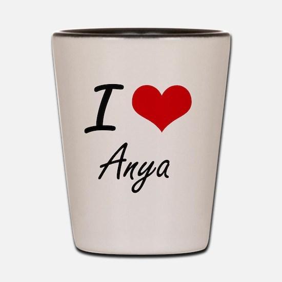 I Love Anya artistic design Shot Glass