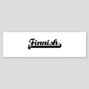 Finnish Classic Retro Design Bumper Sticker