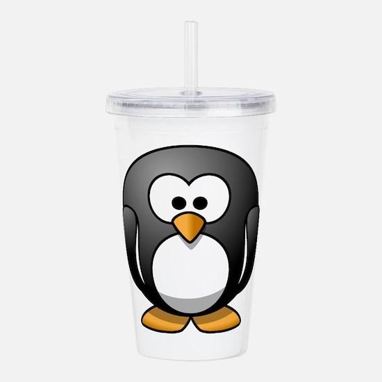 Cute Cartoon Penguin Acrylic Double-wall Tumbler