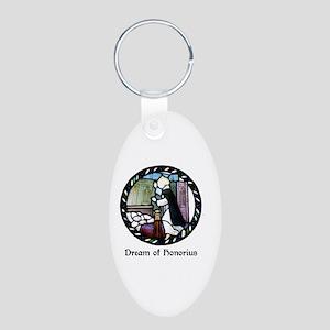 Dream of Honorius Aluminum Oval Keychain