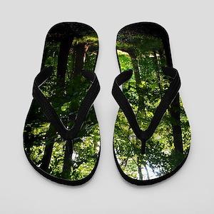 Forest Path Flip Flops