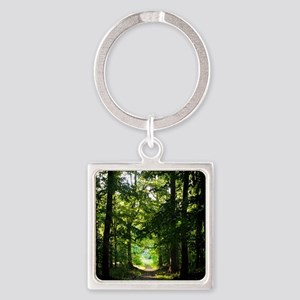 Forest Path Square Keychain