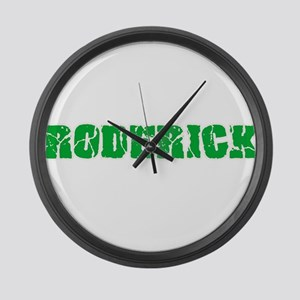 Roderick Name Weathered Green Des Large Wall Clock