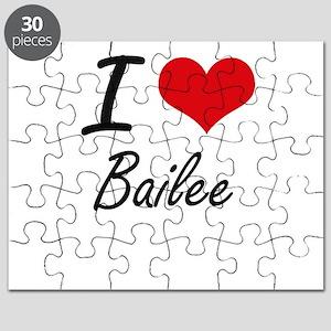 I Love Bailee artistic design Puzzle
